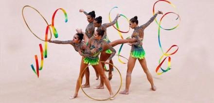 Гимнастическая лента 6м Цветная Тайвань. Одесса. фото 1