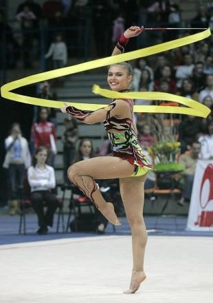 Гимнастическая лента 6м Желтая Тайвань. Одесса. фото 1