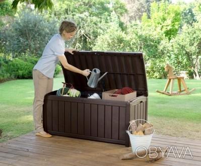 """"""" Сундук, ящик для хранения Keter Glenwood Storage Box 390L """"  Идеальный спосо. Ужгород, Закарпатская область. фото 1"""