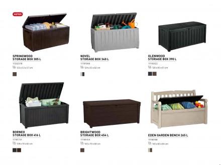 """"""" Сундук, ящик для хранения Keter Brightwood Storage Box 454L """"  Идеальный спо. Ужгород, Закарпатская область. фото 3"""