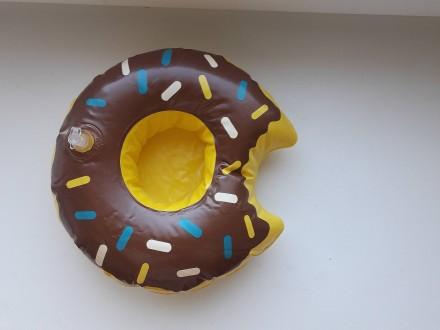 Прикольный надувной подстаканник пончик шоколадный. Запорожье. фото 1