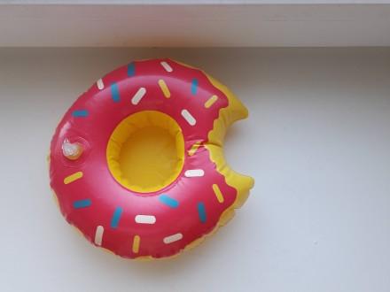 Прикольный надувной подстаканник пончик розовый. Запорожье. фото 1