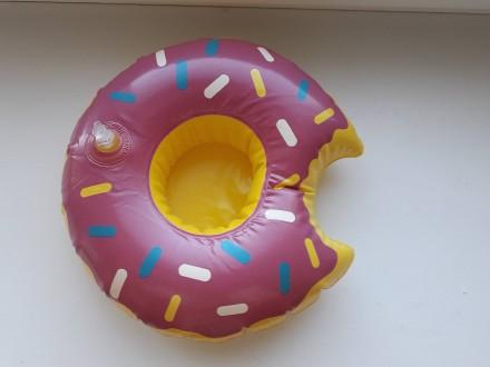 Прикольный надувной подстаканник пончик сиреневый. Запорожье. фото 1
