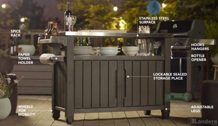 """"""" Стол для гриля, барбекю Keter Unity XL 207L Storage Buffet """"  Идеальный спос. Ужгород, Закарпатская область. фото 5"""