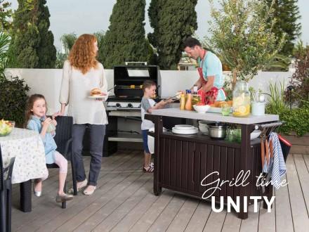 """"""" Стол для гриля, барбекю Keter Unity XL 207L Storage Buffet """"  Идеальный спос. Ужгород, Закарпатская область. фото 8"""