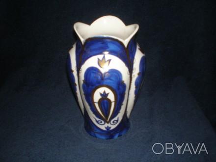 Фарфоровая ваза. Кисловодск Кобольт