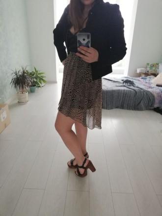 Леопардовая юбка New Look. Вышгород. фото 1