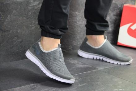Nike Free Run 3.0 кроссовки мужские серые 7946. Киев. фото 1
