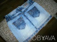 Юбка джинсовая, новая, размер 26, очень красивая, не угадали с размером. Отправл. Балаклея, Харьковская область. фото 4