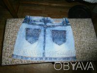 Юбка джинсовая, новая, размер 26, очень красивая, не угадали с размером. Отправл. Балаклея, Харьковская область. фото 3