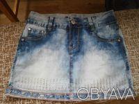 Джинсовая юбка 26 размер. Балаклея. фото 1