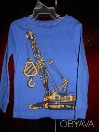 1)синяя футболка с рисунком,новая но без бирок,CARTER'S  ,цена-155 гр. замеры: . Киев, Киевская область. фото 1