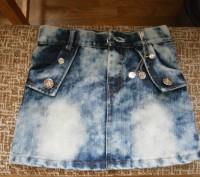 Джинсовая юбочка на девочку 6-8 лет. Балаклея. фото 1