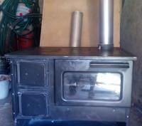 Печь-камин для обогрева помещений, для приготовления пищи. Мощность 9 квт. Стиль. Киев, Киевская область. фото 3