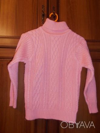 свитер на девочку 6-7 лет, в отличном состоянии, длина изделия - 45 см, длина ру. Кривой Рог, Днепропетровская область. фото 1