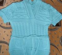 Водолазка с жилеткой на девочку 6-7 лет бирюзового цвета. Тёплые. Состояние отли. Кривой Рог, Днепропетровская область. фото 3
