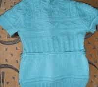 Водолазка с жилеткой на девочку 6-7 лет бирюзового цвета. Тёплые. Состояние отли. Кривой Рог, Днепропетровская область. фото 4