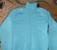 Водолазка с жилеткой на девочку 6-7 лет бирюзового цвета. Тёплые. Состояние отли. Кривой Рог, Днепропетровская область. фото 5