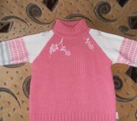 Тёплый свитер на девочку 6-7 лет, 40% шерсти. В хорошем состоянии. Длина изделия. Кривой Рог, Днепропетровская область. фото 2