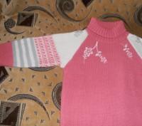 Тёплый свитер на девочку 6-7 лет, 40% шерсти. В хорошем состоянии. Длина изделия. Кривой Рог, Днепропетровская область. фото 4