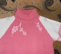 Тёплый свитер на девочку 6-7 лет, 40% шерсти. В хорошем состоянии. Длина изделия. Кривой Рог, Днепропетровская область. фото 3