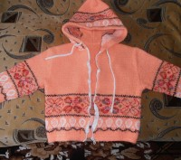 Тёплая кофточка на молнии оранжевого цвета на девочку 4-5 лет. В хорошем состоян. Кривий Ріг, Дніпропетровська область. фото 2