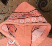 Тёплая кофточка на молнии оранжевого цвета на девочку 4-5 лет. В хорошем состоян. Кривий Ріг, Дніпропетровська область. фото 3