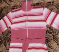 Тёплая кофточка (30% шерсти) для девочки 6-7 лет. Состояние идеальное. Длина изд. Кривой Рог, Днепропетровская область. фото 2