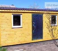 Вагончик из блок-хауса (имитация бревна) размер 6х2,5 м  Киев Украина. Киев. фото 1