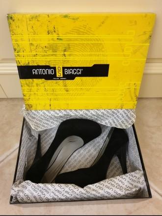 Туфли замшевые черные Antonio Biaggi 37 размер. Киев. фото 1
