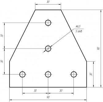 Алюмінієвий елементи пластина Т-образна для профілю 30х30. Товщина 4мм, габарит . Львов, Львовская область. фото 3
