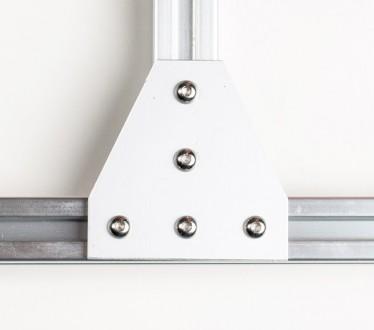 Алюмінієвий елементи пластина Т-образна для профілю 20х20. Товщина 4мм, габарит . Львов, Львовская область. фото 2