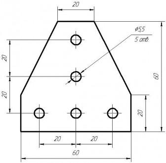 Алюмінієвий елементи пластина Т-образна для профілю 20х20. Товщина 4мм, габарит . Львов, Львовская область. фото 3