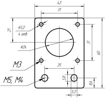 Пластина для кріплення крокового двигуна до профілю 20х20. Товщина 4мм, габарит . Львов, Львовская область. фото 3