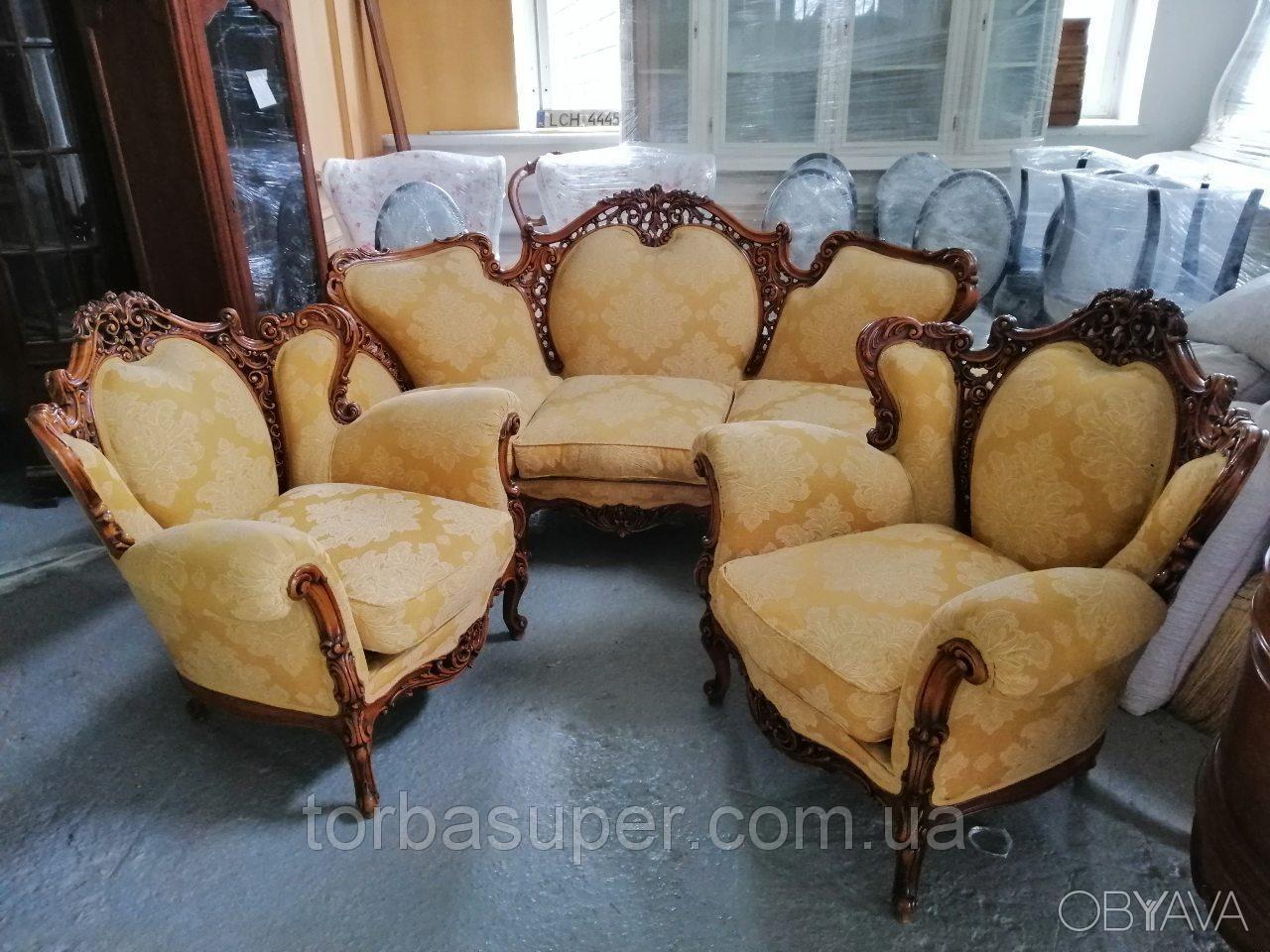 ᐈ диван и два кресла комплект мягкой мебели из италиибарокко ᐈ днепр 1300 Eur Obyavaua 4216836
