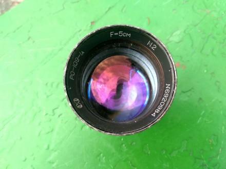 Продам срочно объектив РО-109-1А А=5 см 1:1.2 Состояние на фото  Продаю за не. Конотоп, Сумская область. фото 7