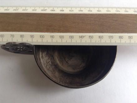 Чашка. Скань, мельхиор. ЛХШ. ЗЮМ МЕТ. Мельхиор, посеребрение. Чашка Высота 4 с. Одесса, Одесская область. фото 7