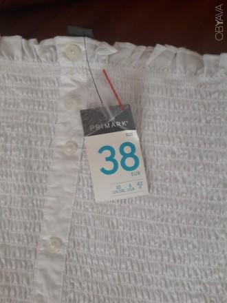 Нова бІла блуза з оголеними плечима.Оригінальний фасон. Розмір 38. З магазину Pr. Ковель, Волынская область. фото 4