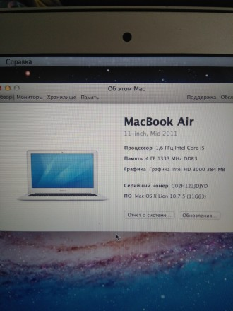 Apple Macbook Air 2011. Киев. фото 1