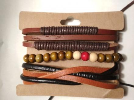 Супер классные, красивые кожаные браслеты, новые -прекрасный аксессуар к дополне. Одесса, Одесская область. фото 4