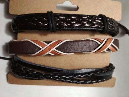 Супер классные, красивые кожаные браслеты, новые -прекрасный аксессуар к дополне. Одесса, Одесская область. фото 5