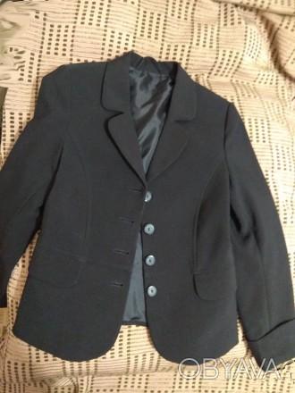 Пиджак школьный для девочки. Размеры на фото. На подкладке. В идеальном состояни. Дніпро, Дніпропетровська область. фото 1