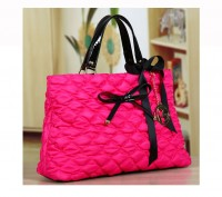 Большая стильная осенняя женская розовая сумка из текстиля стеганной текстуры  . Запорожье, Запорожская область. фото 2