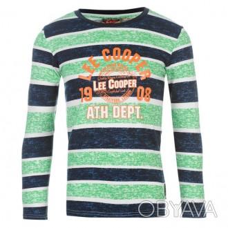 Lee Cooper Textured All Over Print Long Sleeve T Shirt Junior Возраст 9-10 лет.. Запоріжжя, Запорізька область. фото 1