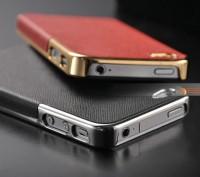 Элегантный золотистый чехол OYO Gold кожа PU с велюром для iPhone 4 4S 5 5S SE . Запорожье, Запорожская область. фото 10