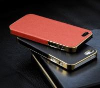 Элегантный золотистый чехол OYO Gold кожа PU с велюром для iPhone 4 4S 5 5S SE . Запорожье, Запорожская область. фото 2