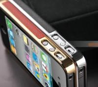 Элегантный золотистый чехол OYO Gold кожа PU с велюром для iPhone 4 4S 5 5S SE . Запорожье, Запорожская область. фото 9