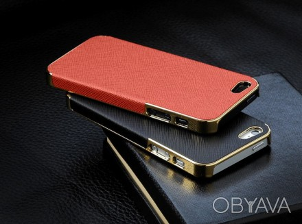 Элегантный золотистый чехол OYO Gold кожа PU с велюром для iPhone 4 4S 5 5S SE . Запорожье, Запорожская область. фото 1