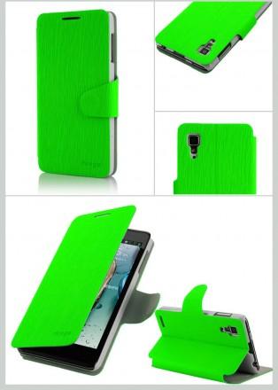 Стильный чехол книжка Lenovo P780 IdeaPhone цвета в наличии:  коричневый, зелен. Запорожье, Запорожская область. фото 6