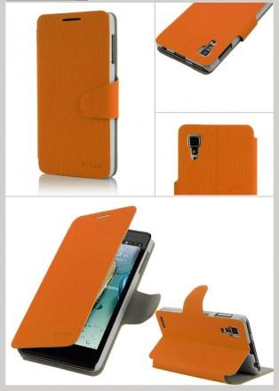 Стильный чехол книжка Lenovo P780 IdeaPhone цвета в наличии:  коричневый, зелен. Запорожье, Запорожская область. фото 5